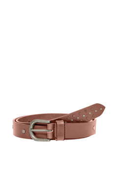 Springfield Metal buckle leather belt  brown