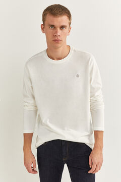 Springfield ESSENTIAL LONG-SLEEVED T-SHIRT ecru