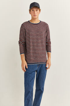 Springfield Fine slub striped jumper blue