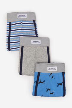 Springfield Pack 3 boxers cachorrinhos azul