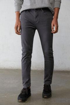 Springfield 5 zsebes, színes mosott skinny nadrág szürke