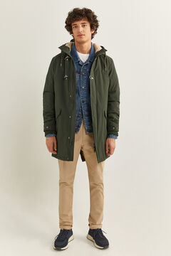 Springfield WATER-REPELLENT SHEEPSKIN PARKA dark gray