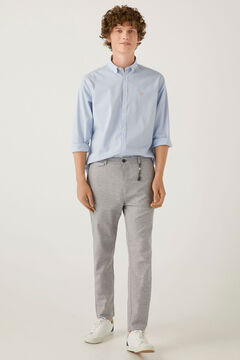 Springfield Two-tone stretch linen chinos grey