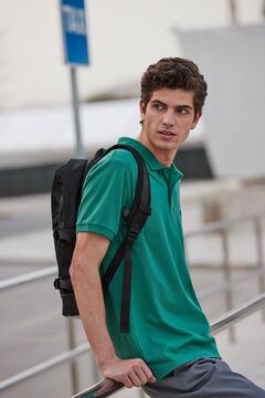 Springfield Slim fit spandex polo shirt green