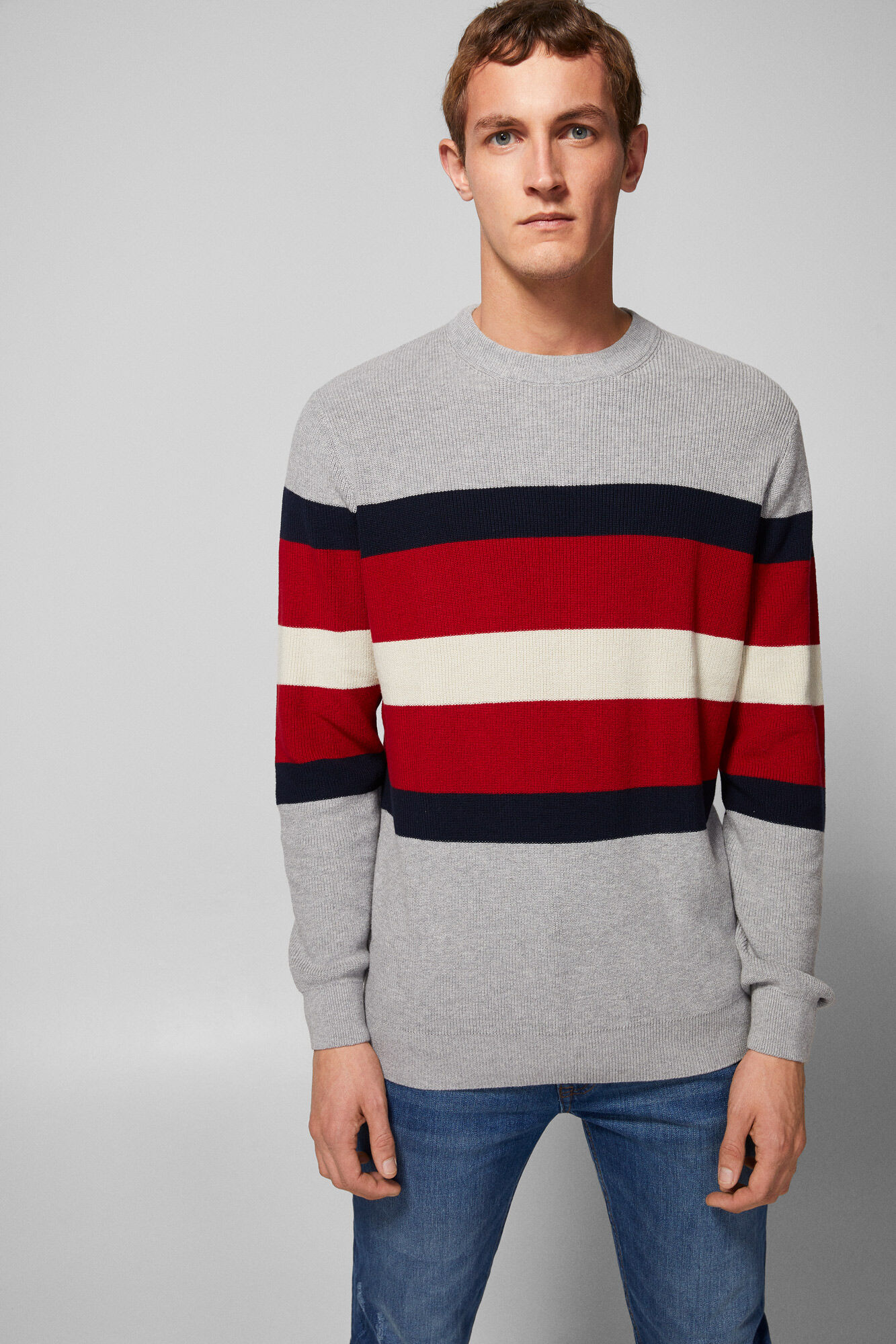 35400912acbc4 Structure jumper with striped chest