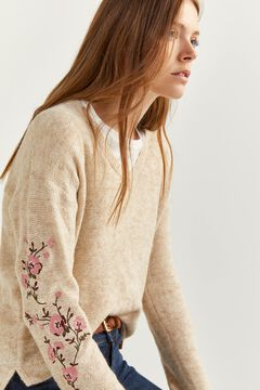 Springfield Flowers jumper grey mix
