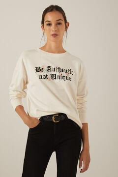 Springfield Organic cotton Be Authentic sweatshirt medium beige