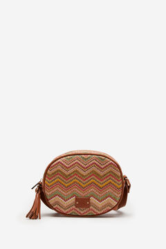 Springfield Multicoloured raffia bag brown