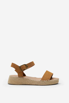 Springfield Combined jute sandal camel