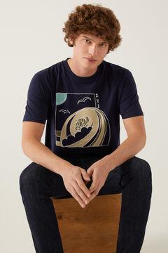 Springfield T-shirt onda azulado