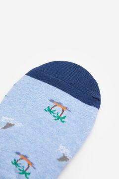 Springfield Jacquard no-show socks steel blue
