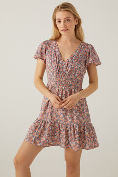 Springfield Printed smock dress royal red