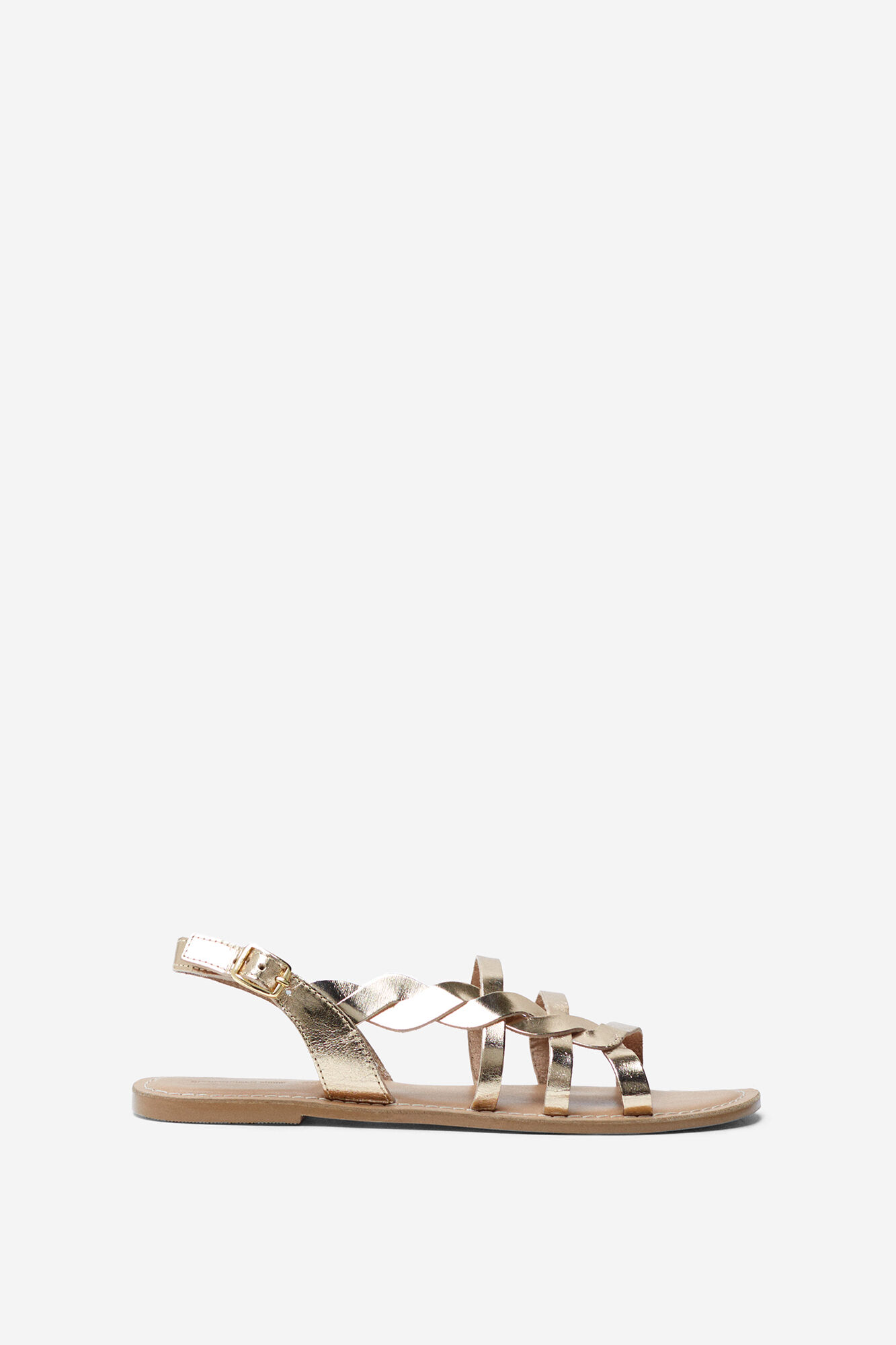 e2e4567f764e4 GOLD LEATHER SANDALS | Shoes | Springfield Man & Woman