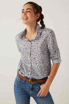 Springfield Camisa florecitas algodón orgánico natural