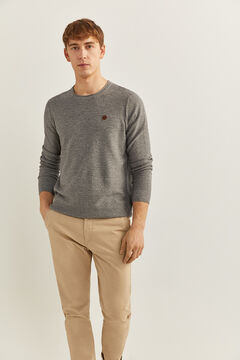 Springfield TEXTURED MOTTLED JUMPER gray