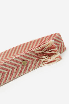 Springfield Fringed fabric belt pink
