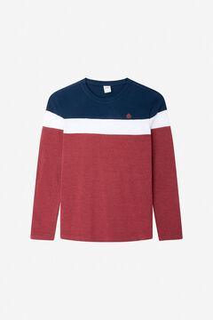 Springfield Block long-sleeved piqué T-shirt blue