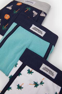 Springfield Pack 3 boxers safári azulado