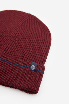 Springfield RIB KNIT HAT deep red