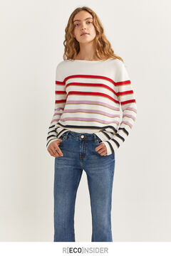 Springfield Multicoloured lurex jumper ecru