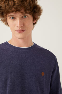 Springfield Long-sleeved textured t-shirt blue