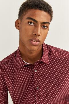 Springfield Slim fit printed shirt red
