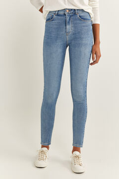 Springfield High Rise Skinny Jeans steel blue