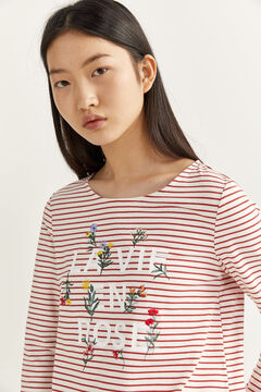 Springfield STRIPED T-SHIRT red