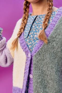 Springfield Cardigan color block purple
