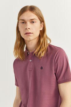 Springfield Polo slim basique violet