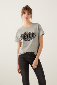 "Springfield ""ACDC"" t-shirt grey mix"