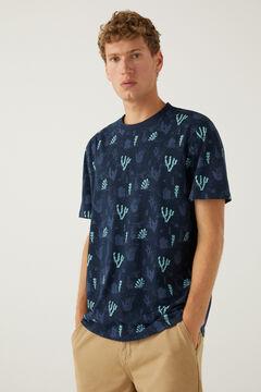 Springfield T-shirt coral marinho mistura
