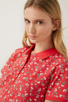 Springfield Organic cotton polo shirt rust