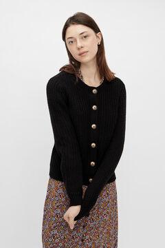 Springfield Knit cardigan fekete