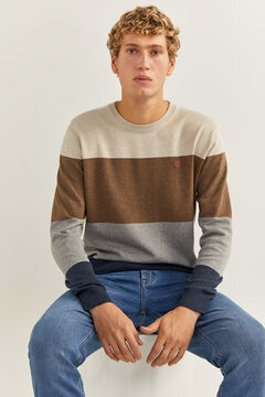 Springfield Colour block stripes jumper blue