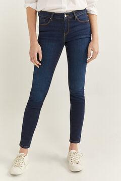 Springfield Jeans slim algodão reciclado lavagem sustentável azul