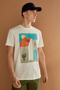 Springfield Watercolour T-shirt ecru