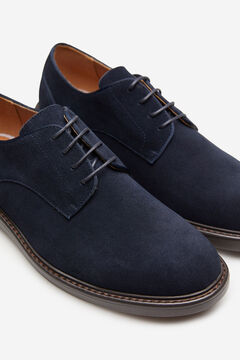 Springfield Split leather blucher shoe bluish