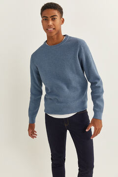 Springfield MELANGE TEXTURED JUMPER steel blue