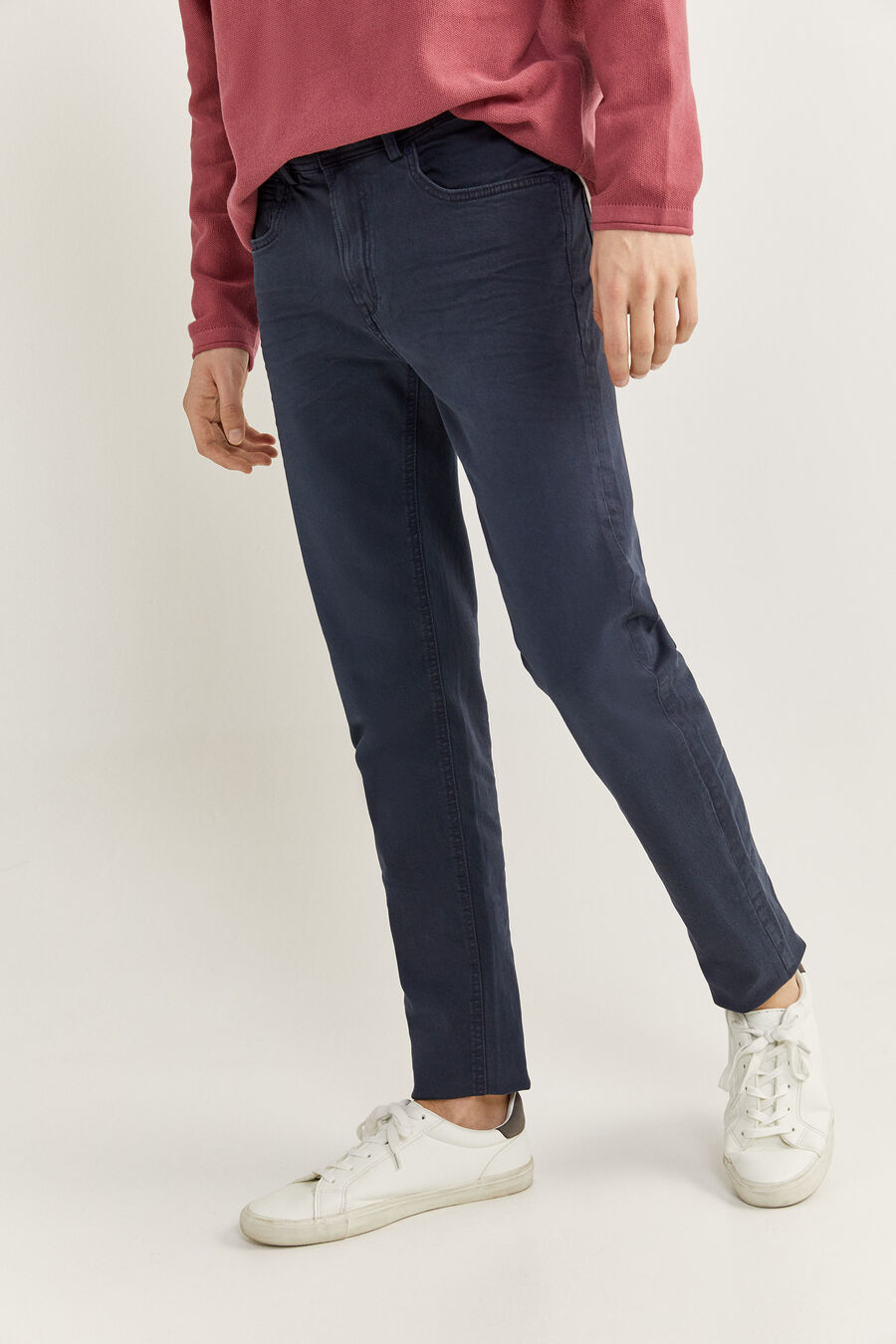 Pantalon 5 poches slim lavé