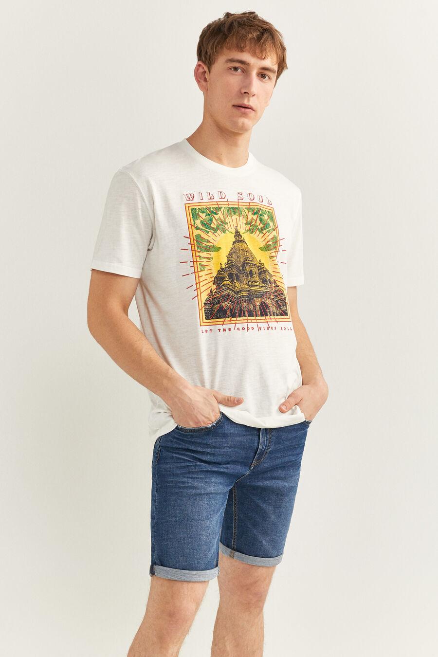 T-shirt imprimé temple