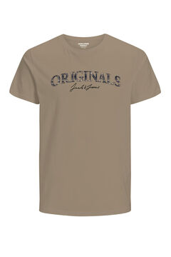 Springfield Logo text t-shirt  brun