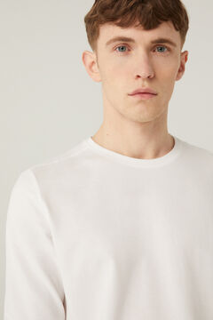 Springfield Henley long-sleeved t-shirt white