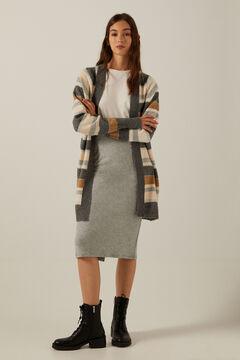 Long cardigan and tube skirt set
