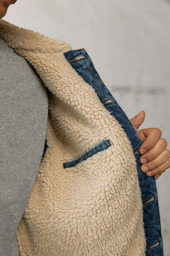 Conjunto de casaco e  calças finas de chino