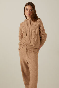 Hooded jumper and knitted joggers set