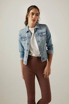 Denim jacket and skinny trousers set