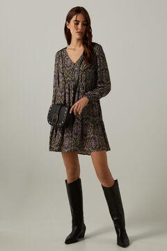 Mini dress, cowboy boot and shoulder bag set