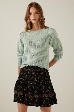Conjunto de jersey algodón y falda volantes