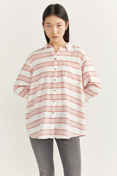 Striped shirt with body shape jeans set